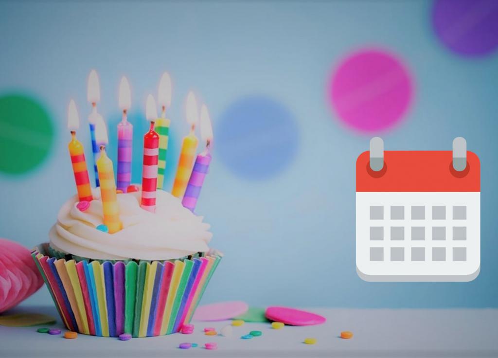 Een verjaardag cake voor de jarige. Verjaardagen zijn handig om op je kalender op te schrijven.